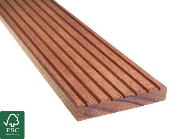 Guyana Teak (Basralocus) FSC 100% Terrassendielen, 25x140 mm, KD, grob/fein T7_2