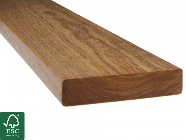 Cumaru FSC 100% Terrassendielen, 21x90 mm, KD, glatt/glatt, aus deutscher Produktion_2