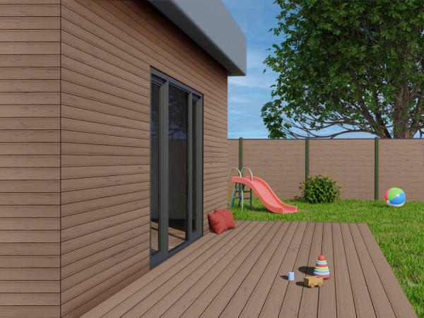 KAHRS WPC Rhombusleiste, 18x100 mm, Massiv, Herbstbraun, strukturiert_1